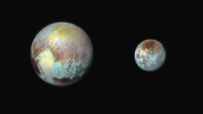 Pluto And Charon Art Print by Nasa/apl/swri