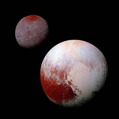 14 Photograph - Pluto And Charon by Nasa/jhuapl/swri