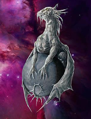 Digital Art - Pluto Dragon by Rob Carlos