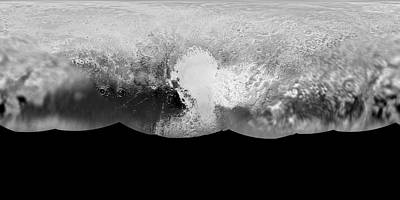 2010s Photograph - Pluto Map by Nasa/johns Hopkins University Applied Physics Laboratory/southwest Research Institute