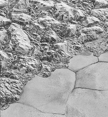 Pluto's Surface Ice Art Print