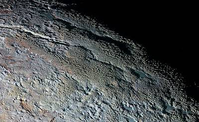 Pluto's Surface Print by Nasa/johns Hopkins University Applied Physics Laboratory/southwest Research Institute