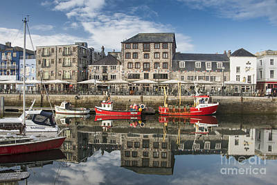 Photograph - Plymouth Barbican Harbour by Donald Davis