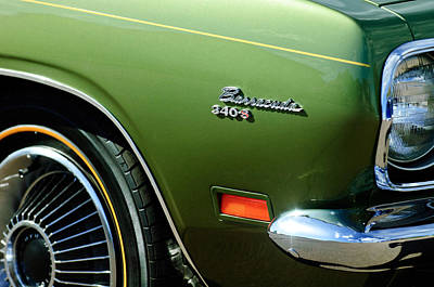 Photograph - Plymouth Barracuda 340-s Emblem by Jill Reger