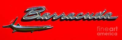 Photograph - Plymouth Barracuda Badge by Mark Spearman