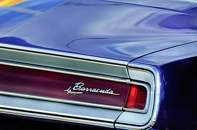 Plymouth Barracuda Photograph - Plymouth Barracuda Taillight Emblem by Jill Reger