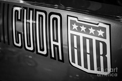 Plymouth Cuda Photograph - Plymouth Cuda Aar Decal by Paul Velgos