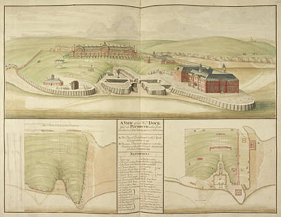 Plymouth Dockyard And Harbour In Devon Art Print by British Library