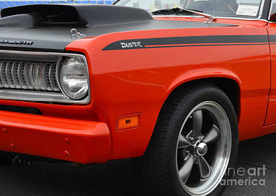 Photograph - Plymouth Duster Closeup by Mark Spearman