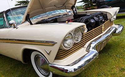Art Print featuring the photograph Plymouth Fury Cream by Mick Flynn