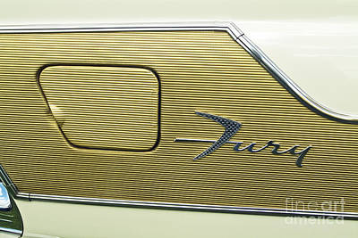 Photograph - Plymouth Fury Emblem by David Zanzinger