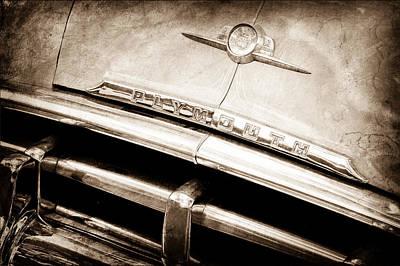 Photograph - Plymouth Hood Emblem by Jill Reger