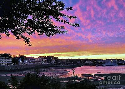 Photograph - Plymouth Waterfront At Sunset by Janice Drew