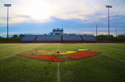 Stadium Photograph - Plymouth Whitemarsh Colonials Football by Bill Cannon