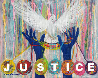 Justice Painting - Pms 20 Justice by Anne Cameron Cutri