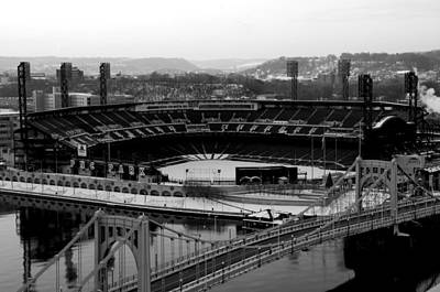 Pnc Park From Above Art Print by Paul Scolieri