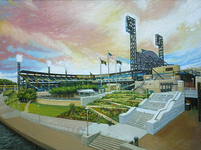 Baseball Parks Painting - Pnc Park Pittsburgh Pirates by Gregg Hinlicky