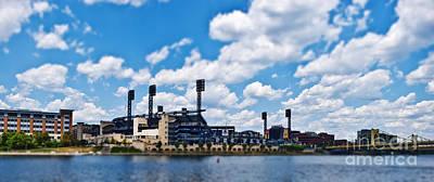 Baseball Stadium Photograph - Pnc Park Tilt-shift by Pittsburgh Photo Company