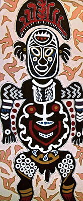 Painting - Papua New Guinea Manggi by Carol Tsiatsios