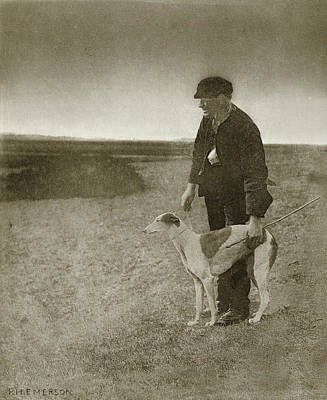 Poacher Drawing - Poacher With Dog, Peter Henry Emerson, Searle by Artokoloro