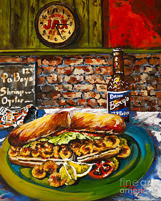 Barqs Painting - Po'boy Time by Dianne Parks