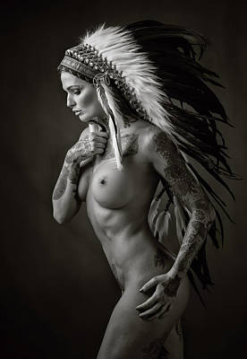Nudes Photograph - Pocahontas by Ross Oscar