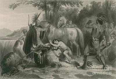 Pocahontas Saving Captain John Smith Print by Photo Researchers