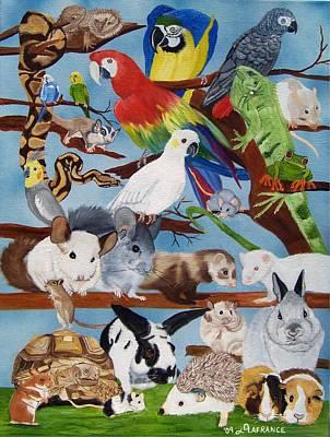 Pocket Pets Art Print by Debbie LaFrance