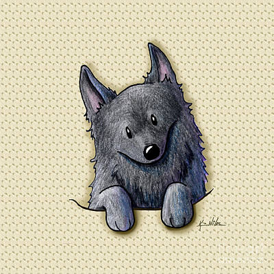 Pocket Schipperke Original by Kim Niles