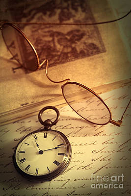 Photograph - Pocket Watch And Spectacles With Letter by Sandra Cunningham