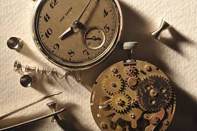 Pocket Watch Macro Number 1 Art Print by John B Poisson