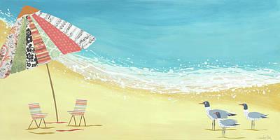 Beach Landscape Painting - Poco Y Poco by Jennifer Peck