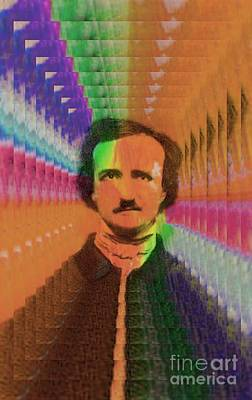 Digital Art - Poe In A Parallel World by Steven  Pipella