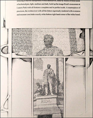 Drawing - Poems Of Rizal 1966 To 67 by Glenn Bautista