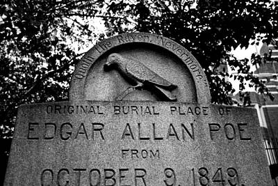 Gothic Photograph - Poe's Original Burial Place by Jennifer Ancker