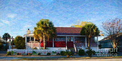 Digital Art - Poe's Tavern On Sullivan's Island Sc by Dale Powell