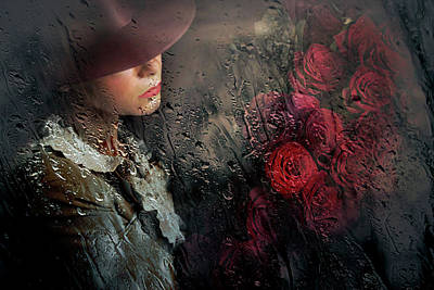 Red Rose Wall Art - Photograph - Poetry by Adela Lia