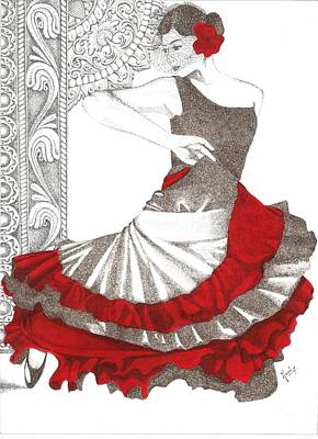 Flamenco Mixed Media - Poetry In Motion by Harsha Jagasia