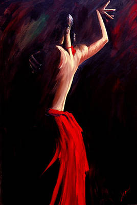 Dance Painting - Poetry In Motion by Sheri Sharareh Chakamian