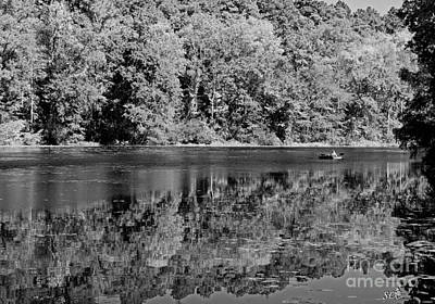 Photograph - Poinsett State Park In Black And White by Sandra Clark