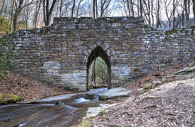 Photograph - Poinsett Stone Bridge-1 by Charles Hite