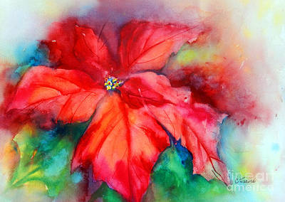 Painting - Poinsettia by Carolyn Jarvis
