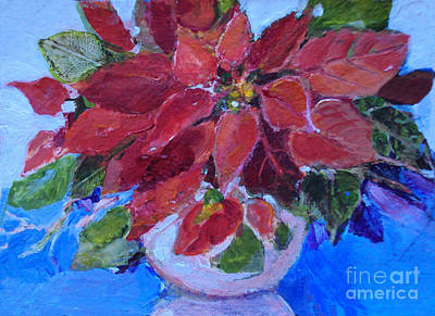 Painting - Poinsettia by Diane Ursin