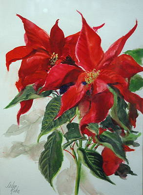 Painting - Poinsettia  by Jolyn Kuhn
