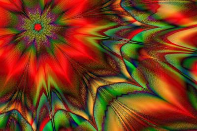 Digital Art - Poinsettia by Kiki Art