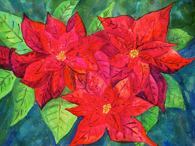 Painting - Poinsettia by Patricia Beebe