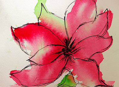 Painting - Poinsettia by Shelley Bain