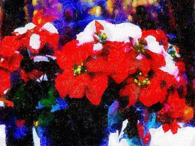 Painting - Poinsettia Snow by Jared Johnson