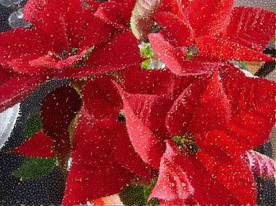 Mixed Media - Poinsettia by Therese Rouleau