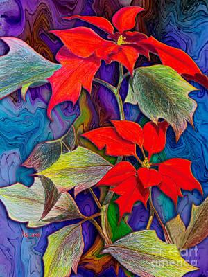 Idealism Digital Art - Poinsettias by Teresa Ascone